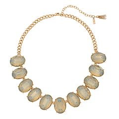 Simply Vera Vera Wang Gold Tone Simulated Crystal Oval Frontal Collar Necklace