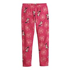 Disney's Minnie Mouse Girls 4-12 Foiled Snowflake Print Minky Leggings by Jumping Beans®