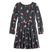 Disney's Minnie Mouse Toddler Girl Foiled Snowflake Print Ruffled Dress by Jumping Beans®
