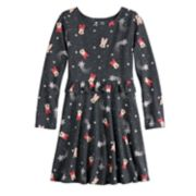 Disney's Minnie Mouse Girls 4-12 Foiled Snowflake Print Ruffled Dress by Jumping Beans®