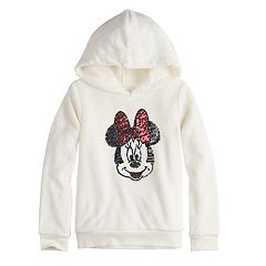 Disney's Minnie Mouse Girls 4-12 Sequined Graphic Fuzzy Hoodie by Jumping Beans®