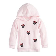 Disney's Minnie Mouse Toddler Girl Sequined Graphics Fuzzy Hoodie by Jumping Beans®