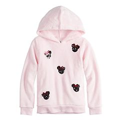 Disney's Minnie Mouse Girls 4-12 Sequined Graphics Fuzzy Hoodie by Jumping Beans®