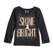 "Disney's Minnie Mouse Girls 4-12 ""Shine Bright"" Sequined Graphic Tee by Jumping Beans®"