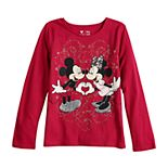 Disney's Minnie & Mickey Mouse Girls 4-12 Glittery Heart Tee by Jumping Beans®