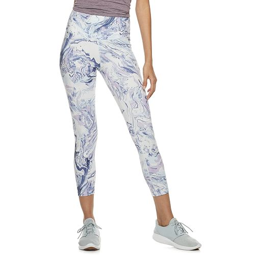 Juniors' SO® Print High-Waisted Yoga Capri Leggings