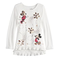 Disney's Minnie & Mickey Mouse Toddler Girl Sequined Graphics Top by Jumping Beans®
