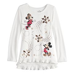 Disney's Minnie & Mickey Mouse Girls 4-12 Sequined Graphics Top by Jumping Beans®