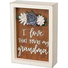 'My Grandma' Box Sign Wall Decor