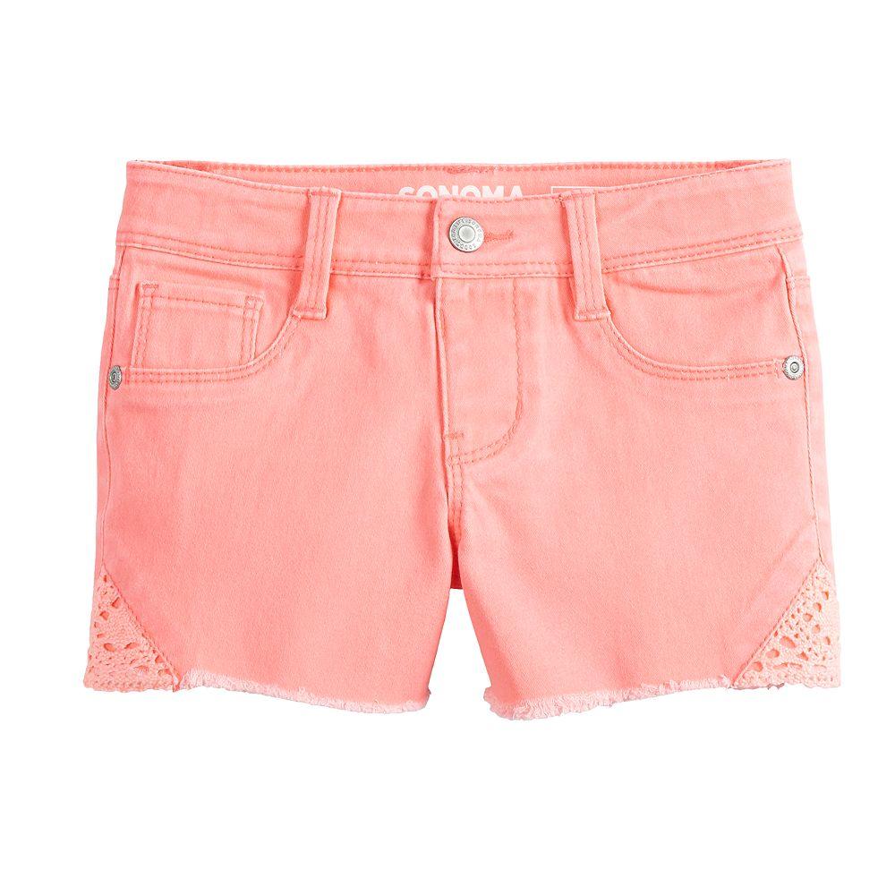 Girls 4-12 SONOMA Goods for Life® Crochet Frayed-Hem Shorts
