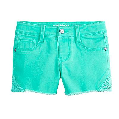 Girls 4-12 SONOMA Goods for Life? Crochet Frayed-Hem Shorts