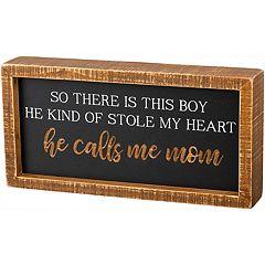'Calls Me Mom' Box Sign Wall Decor