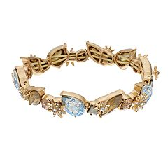 Simply Vera Vera Wang Gold Tone Simulated Stone & Crystal Cluster Stretch Bracelet