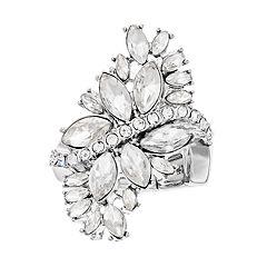 Jennifer Lopez Crystal Stone Cluster Stretch Ring