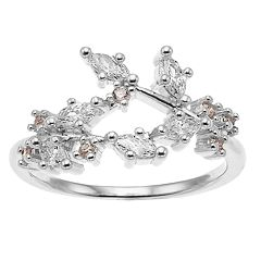 Jennifer Lopez Vintage Floral Stretch Ring