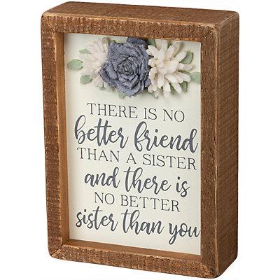 """""""Sister"""" Box Sign Wall Decor"""