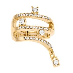 Jennifer Lopez Crystal Wrap Stretch Ring