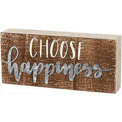 'Choose Happiness' Box Sign Wall Decor