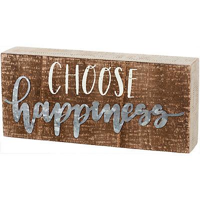 """Choose Happiness"" Box Sign Wall Decor"