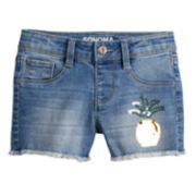 Girls 4-12 SONOMA Goods for Life? Flip-Sequin Pineapple Denim Shortie Shorts