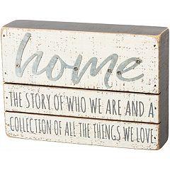 'Home' Box Sign Wall Decor
