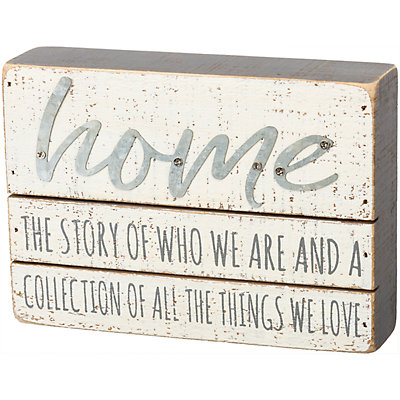 """Home"" Box Sign Wall Decor"