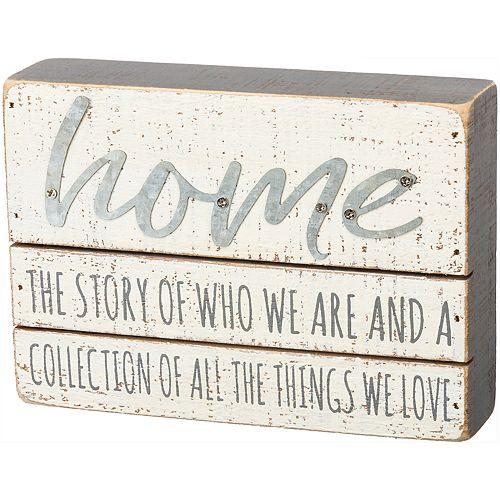 """Home"" Box Sign Wall Decor"