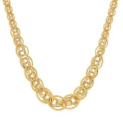 10k Gold Textured Link Necklace