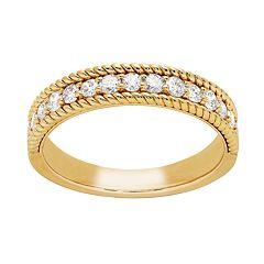 14k Gold 1/2 Carat T.W. Diamond Band