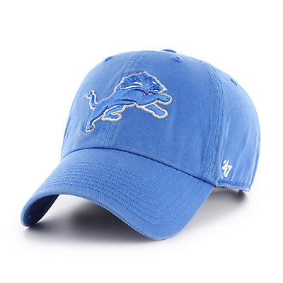 Adult '47 Brand Detroit Lions Clean Up Adjustable Cap