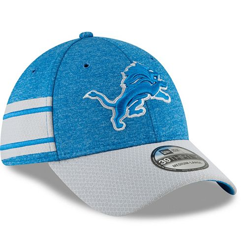 Adult New Era Detroit Lions Sideline Home Official 39THIRTY Flex-Fit Cap