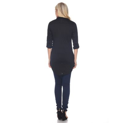 Women's White Mark Button-Down Tunic