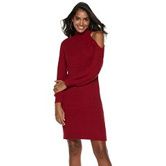 Women's Jennifer Lopez Cold-Shoulder Sweaterdress