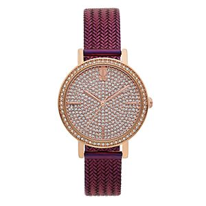 Jennifer Lopez Crystal Pave Mesh Band Watch