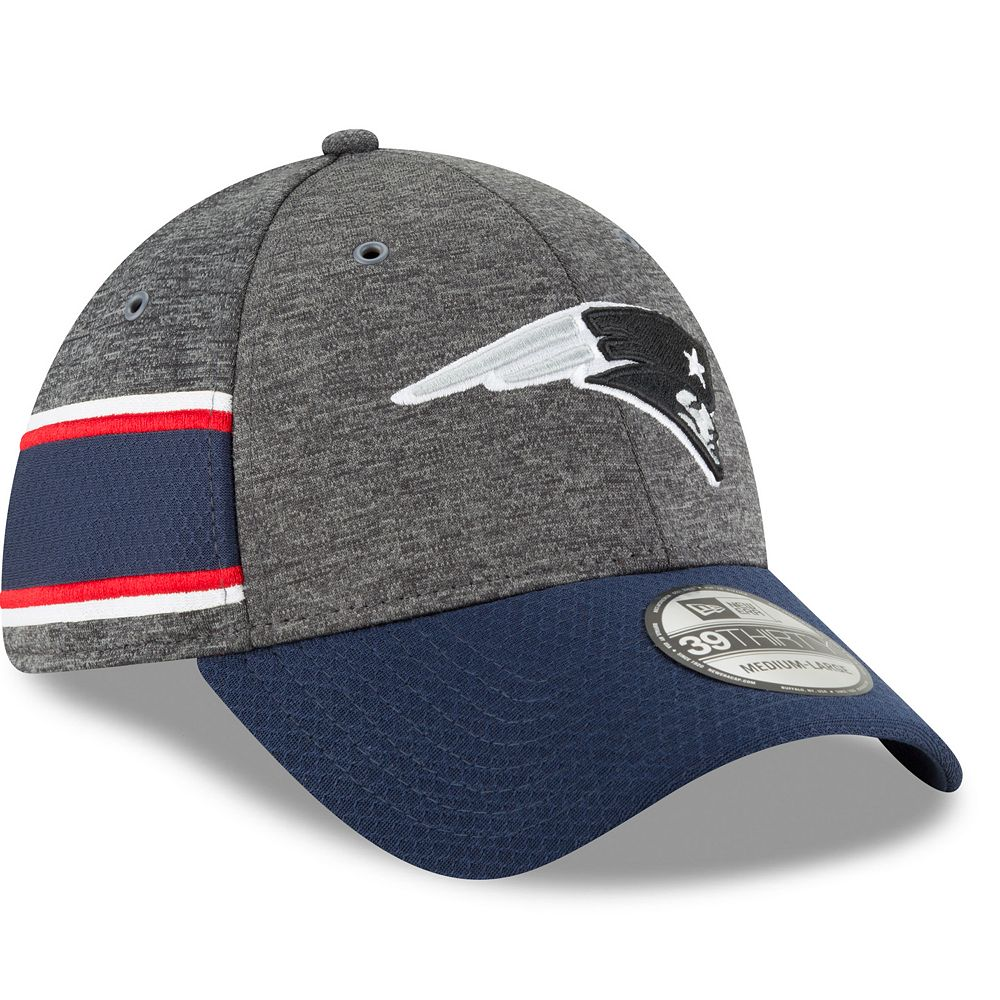 Adult New Era New EnglandPatriots Sideline Home Official 39THIRTY Flex-Fit Cap