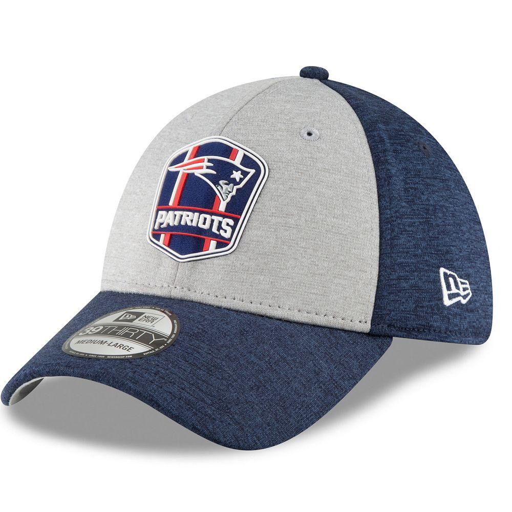 Adult New Era New EnglandPatriots Sideline Team 39THIRTY Flex-Fit Cap