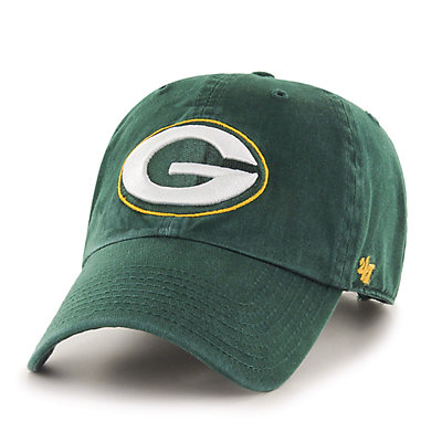 Adult '47 Brand Green Bay Packers Clean Up Adjustable Cap
