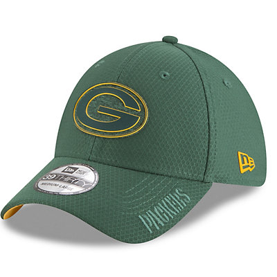 Adult New Era Green Bay Packers Training 39THIRTY Flex-Fit Cap