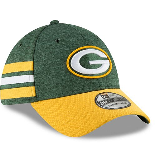 Adult New Era Green Bay Packers Sideline Home Official 39THIRTY Flex-Fit Cap
