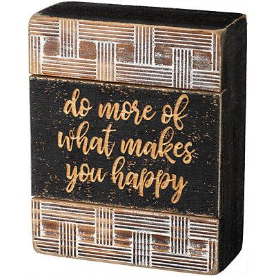 """""""Happy"""" Box Sign Wall Decor"""
