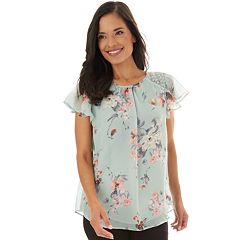 1f660b5692466 Women s Apt. 9® Flutter Sleeve Top