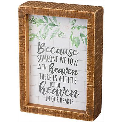 """Heaven"" Box Sign Wall Decor"