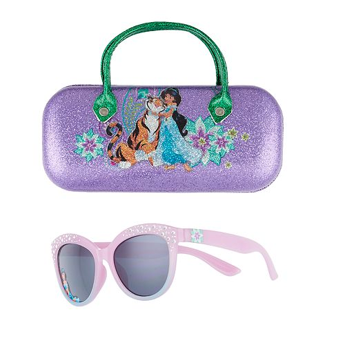 Disney Princess Jasmine Girls 4-16 Sunglasses & Case Set