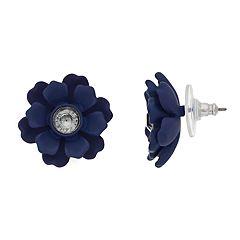 Simply Vera Vera Wang Blue Flower Motif Simulated Stone Stud Earrings