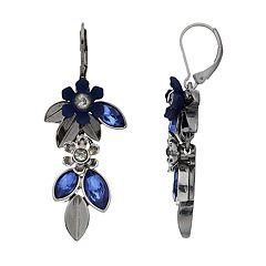Simply Vera Vera Wang Simulated Crystal Flower & Leaf Motif Drop Earrings