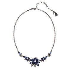Simply Vera Vera Wang Blue Simulated Crystal Flower Motif Collar Necklace