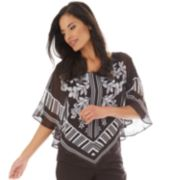 Women's Apt. 9® V-Front Chiffon Poncho Top