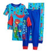 Boys PJ Masks 4-Piece Pajama Set