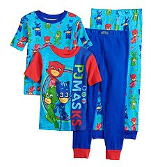 Boys PJ Masks 4-Piece Pajama Set