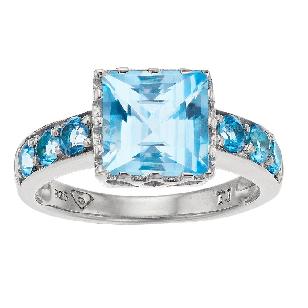 SIRI USA by TJM Sterling Silver Sky Blue Topaz Ring